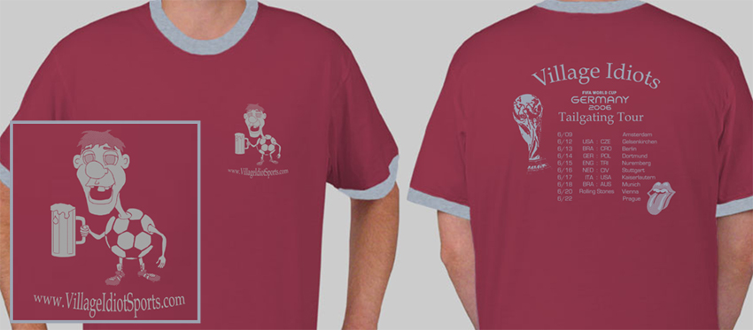 World Cup Tee Claret Grey